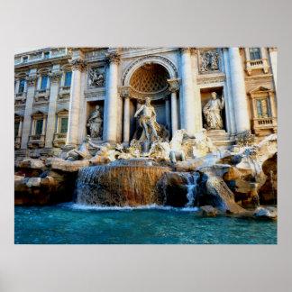 Trevi Fountain, Rome, Italy Poster