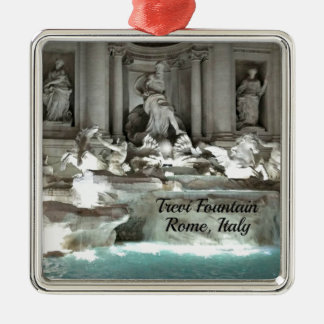 Trevi Fountain, Rome Italy Silver-Colored Square Decoration
