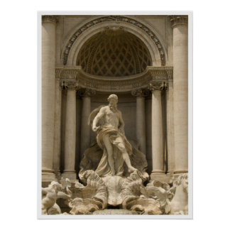 Trevi fountain , Rome Poster