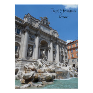 Trevi Fountain- Rome Poster