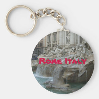 Trevis fountain Rome Basic Round Button Key Ring