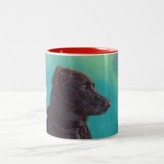 "Trevor ""Regal Gentleman"" Two-Tone Coffee Mug"