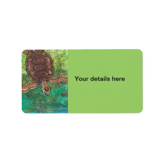 Trevor the Turtle Label