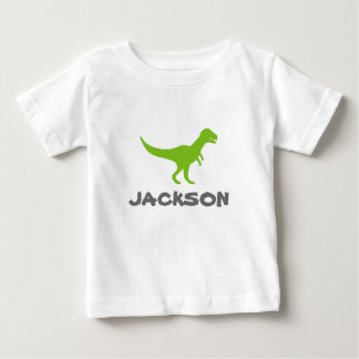 Trex dinosaur infant t shirt with custom kids name