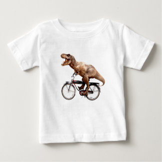 Trex riding bike baby T-Shirt
