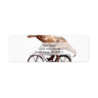 Trex riding bike return address label