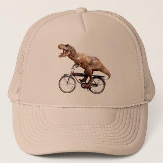 Trex riding bike trucker hat