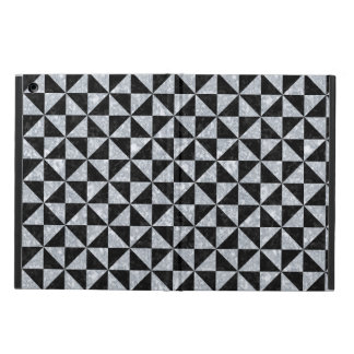 TRI1 BK-GY MARBLE COVER FOR iPad AIR