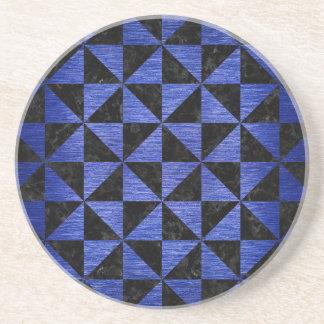 TRI1 BK-MRBL BL-BRSH SANDSTONE COASTER