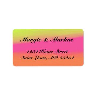 Tri Color Address Label