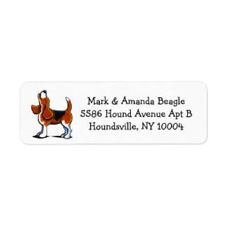 Tri-color Beagle Bay Simple Return Address Label