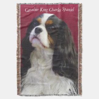 Tri-Color Cavalier King Charles Throw Blanket