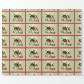Tri-Color Corgi Christmas Wrapping Paper