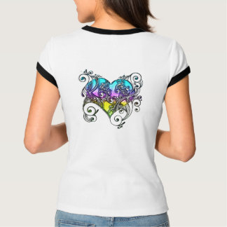 Tri-Color heart with Style T-Shirt