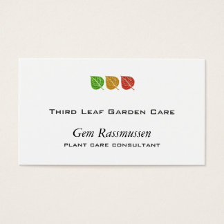Tri-Color Leaves Business Card