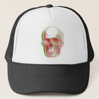 Tri-color Rasta Skull Trucker Hat