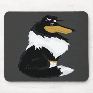 Tri-color Rough Collie Cartoon Mousepad
