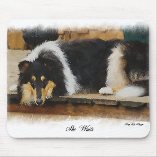 Tri Color Rough Collie Gifts Art Mouse Pads