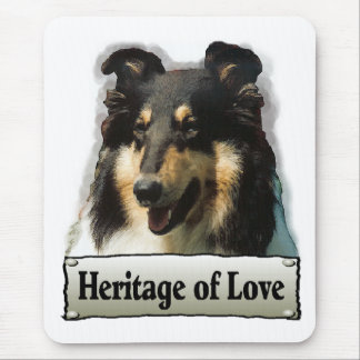 Tri Color Rough Collie Gifts Mouse Pad