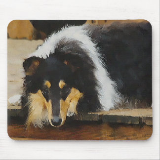 Tri-Color Rough Collie Gifts Mouse Pads