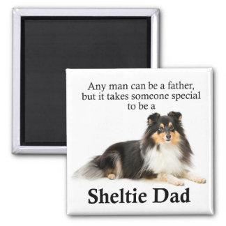 Tri-Color Sheltie Dad Magnet
