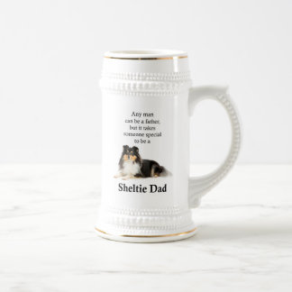 Tri-Color Sheltie Dad Stein