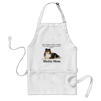 Tri-Color Sheltie Mom Apron