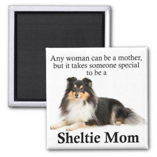 Tri-Color Sheltie Mom Magnet