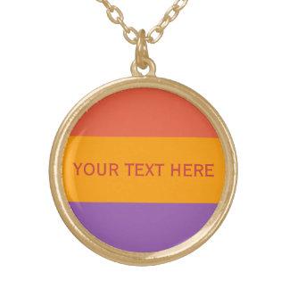 Tri-color stripes custom necklaces