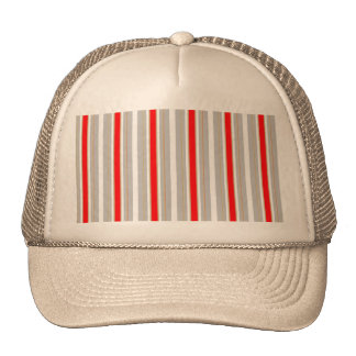 Tri-Color Stripes in Christmas Red Gold and Silver Hats