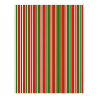 Tri-Color Stripes in Christmas Red, Green & White Flyer