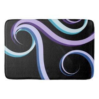 Tri-Color Swirl Bath Mat