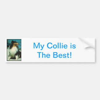 Tri-Colored Collie Rough Coat Bumper Sticker