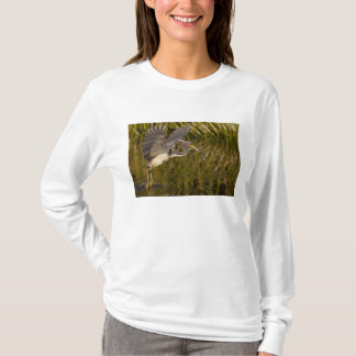 Tri-colored heron capturing lunch T-Shirt
