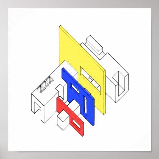 Tri Colour Archi Posters