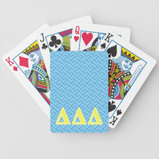Tri Delta Yellow Letters Bicycle Playing Cards