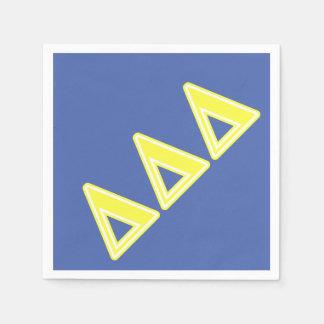 Tri Delta Yellow Letters Disposable Napkin