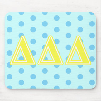 Tri Delta Yellow Letters Mouse Pad