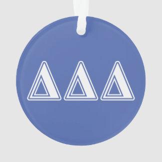 Tri Delta Yellow Letters Ornament