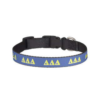 Tri Delta Yellow Letters Pet Collar