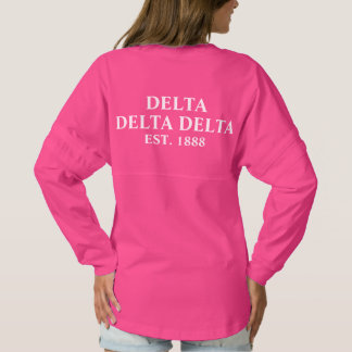 Tri Delta Yellow Letters Spirit Jersey