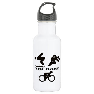 Tri Hard Triathlon Clothing and Accessories 532 Ml Water Bottle