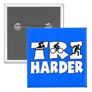 Tri Harder 15 Cm Square Badge