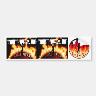 Tri Like Hell Bumper Sticker