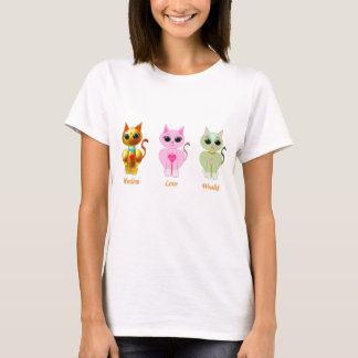 Tri lucky cats T-Shirt