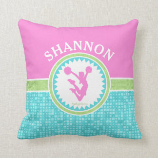Tri-Pastel Color Cheerleading With Aqua Tile Cushion