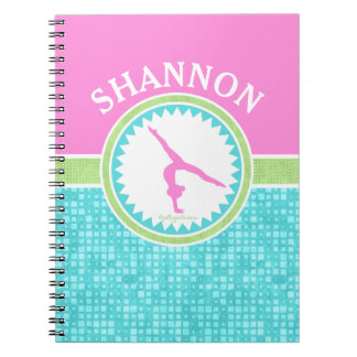 Tri-Pastel Color Gymnastics With Aqua Tile Notebooks