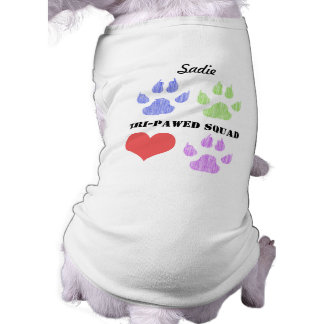 Tri Pawed Three Legged Dog Shirt