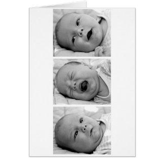 Tri-Photo Baby Announcement