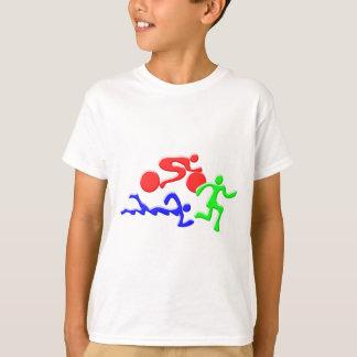 TRI Triathlon Swim Bike Run COLOR Figures Design T-Shirt